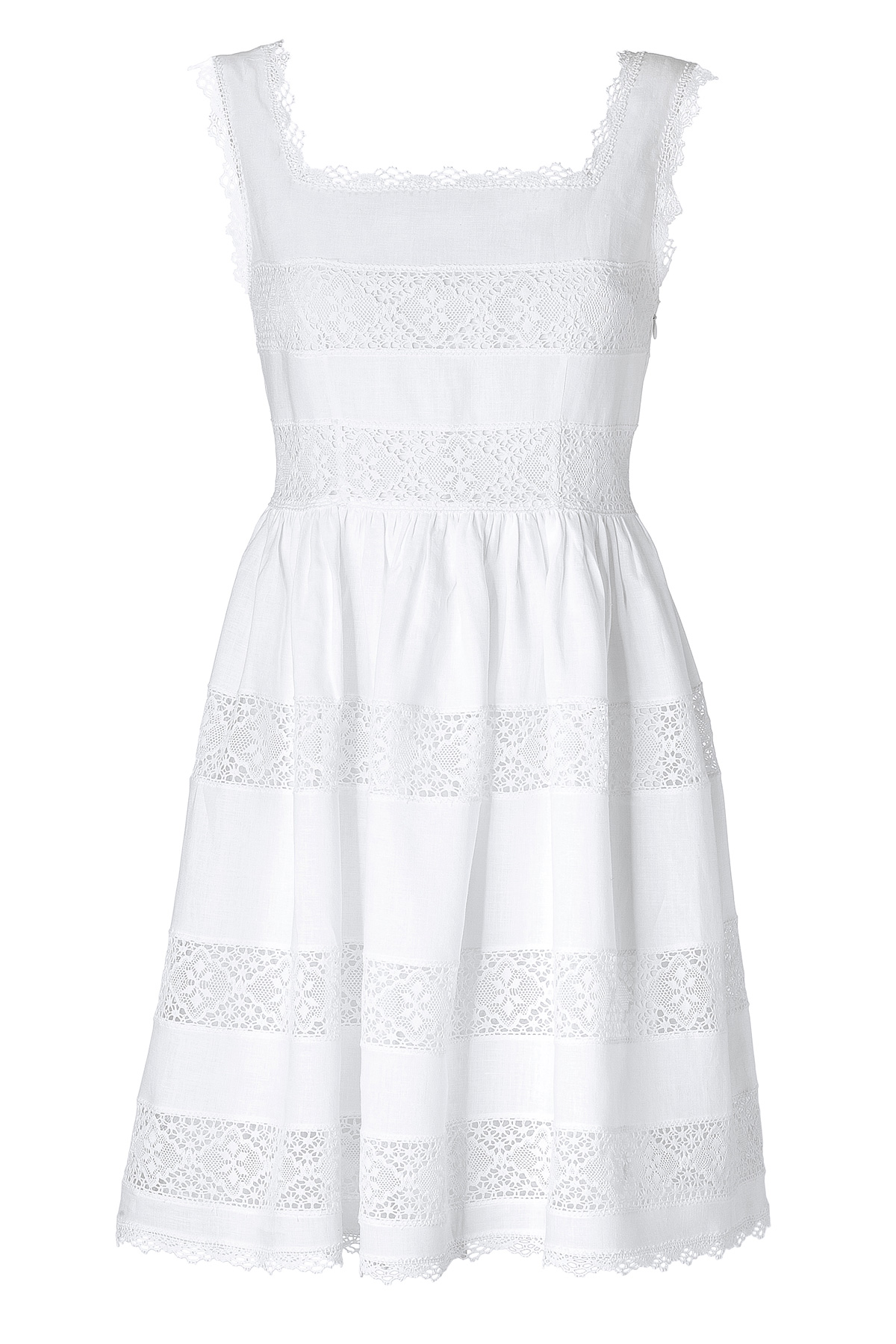 Collette by collette dinnigan Romantic White Cotton Dress in White ...