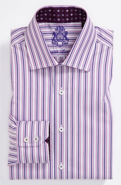 english laundry trim fit dress shirt in purple for men lyst