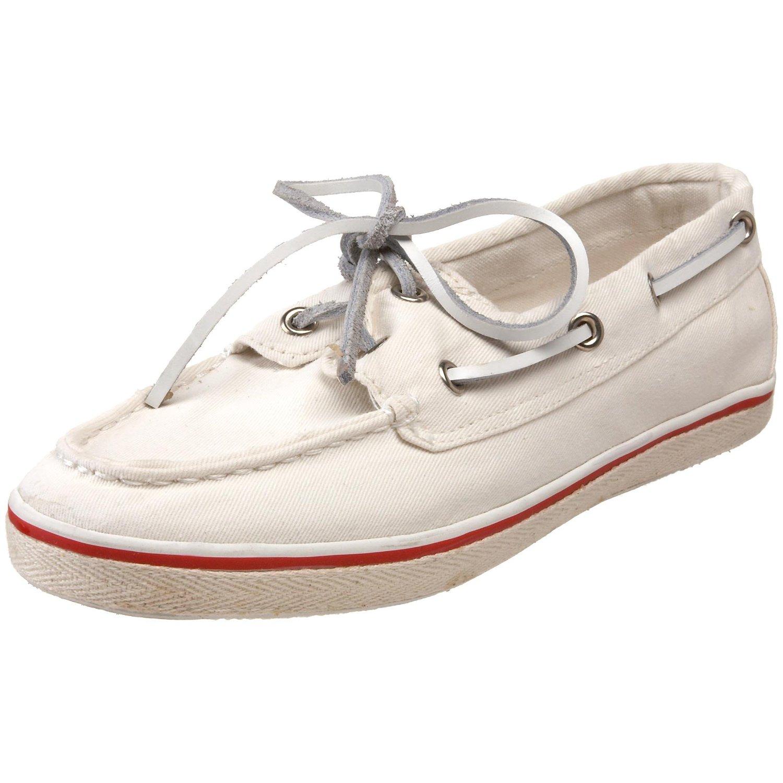 steve madden womens yachtt boat shoe in beige white lyst