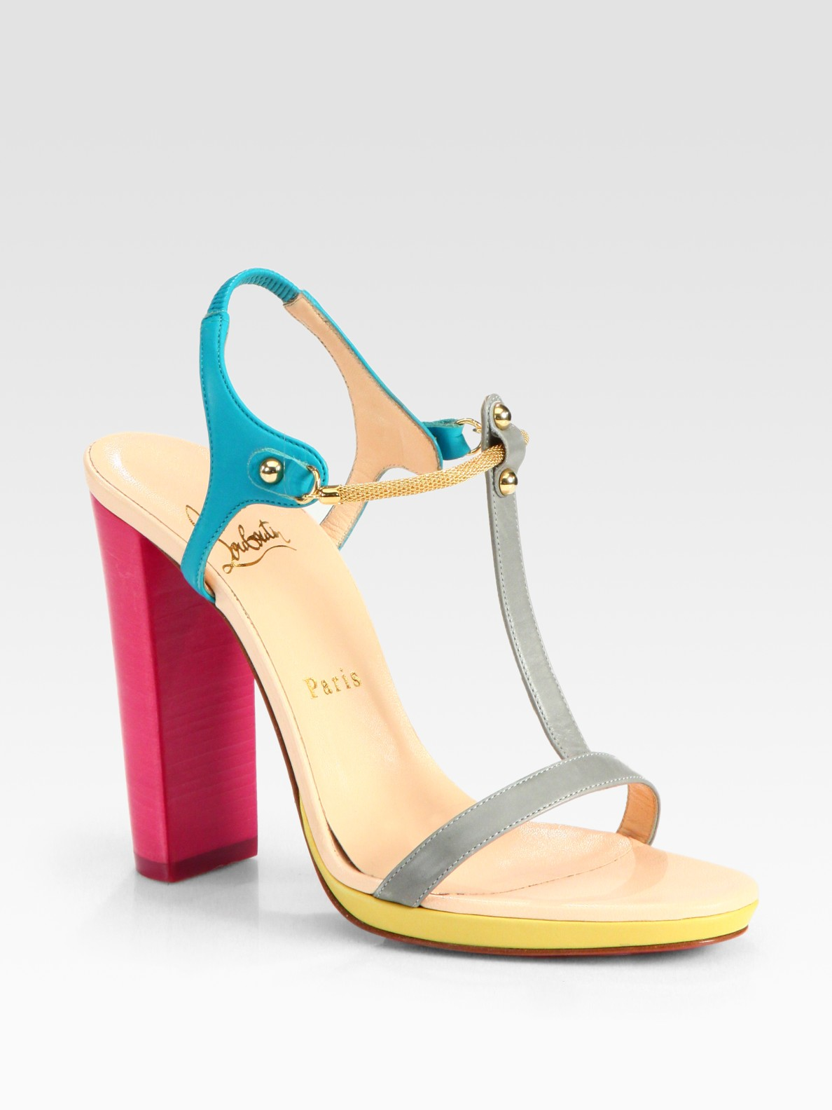 clearance newest prices cheap online Christian Louboutin Sylvieta 120 Colorblock Sandals cheap 100% original discount buy free shipping collections ZEUznR