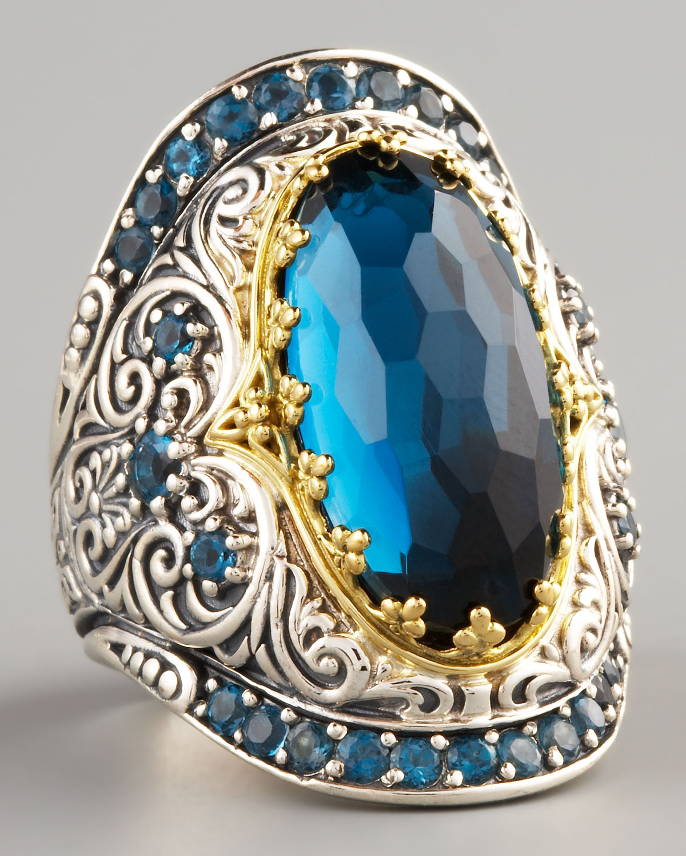 Konstantino London Blue Topaz Ring In Blue Lyst
