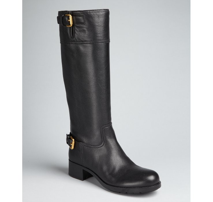 outlet low price cheap low shipping fee Prada Sport Patent Leather Knee-High Boots collections cheap price 14V2U4ID
