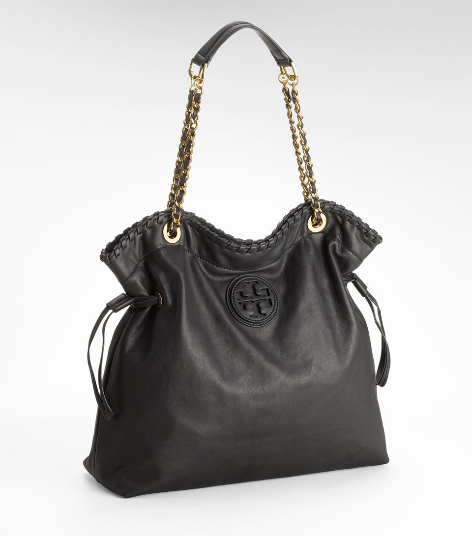 Lyst Tory Burch Marion Tote In Black