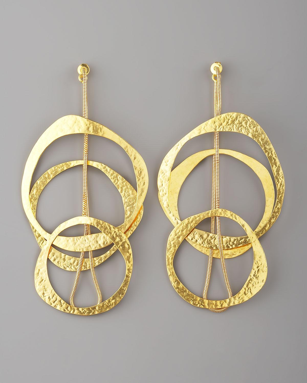 lyst herve van der straeten multicircle earrings in metallic. Black Bedroom Furniture Sets. Home Design Ideas