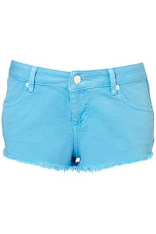 Moto Denim Hotpants - Lyst
