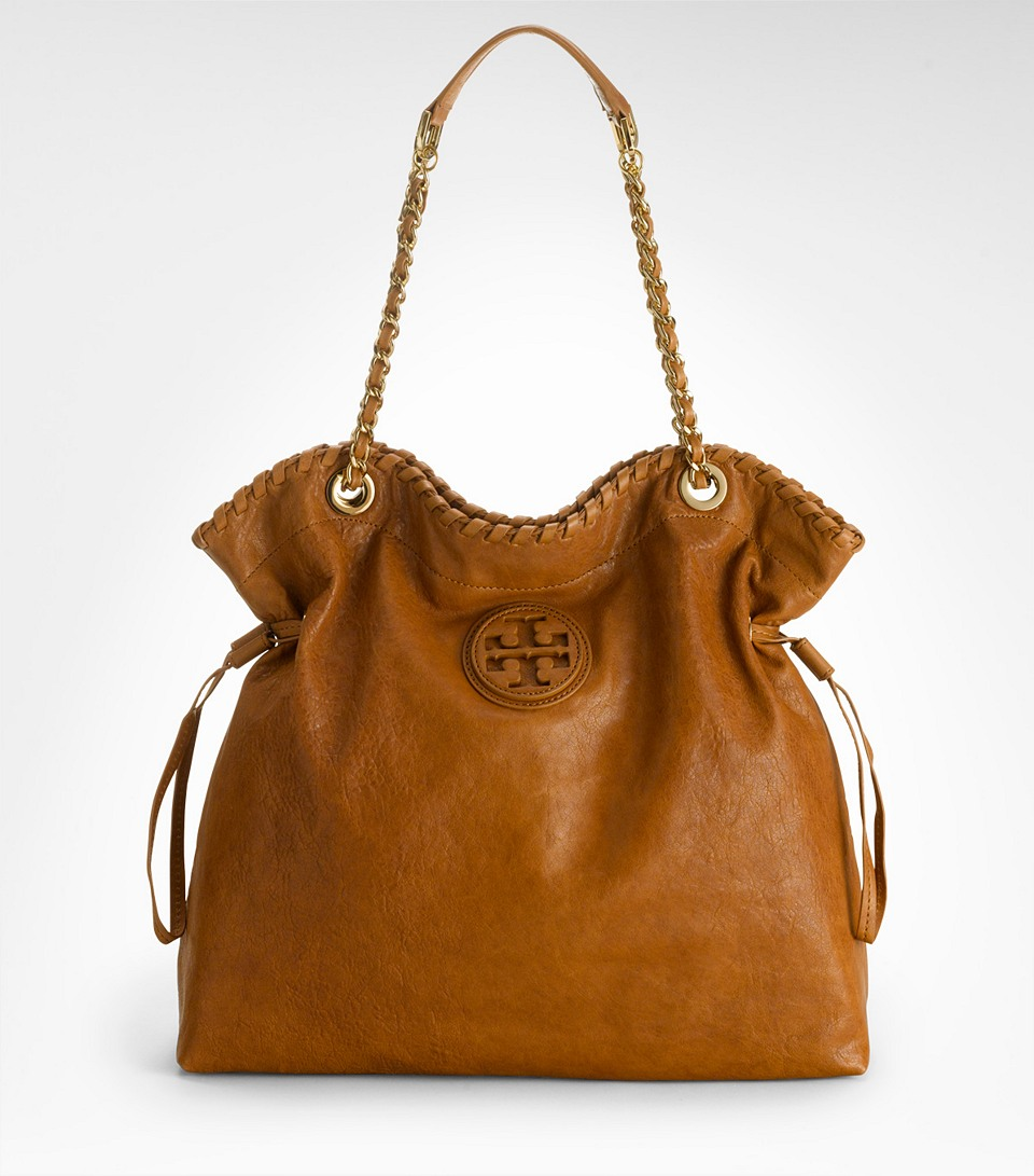 Tory Burch Marion Tote In Brown Lyst