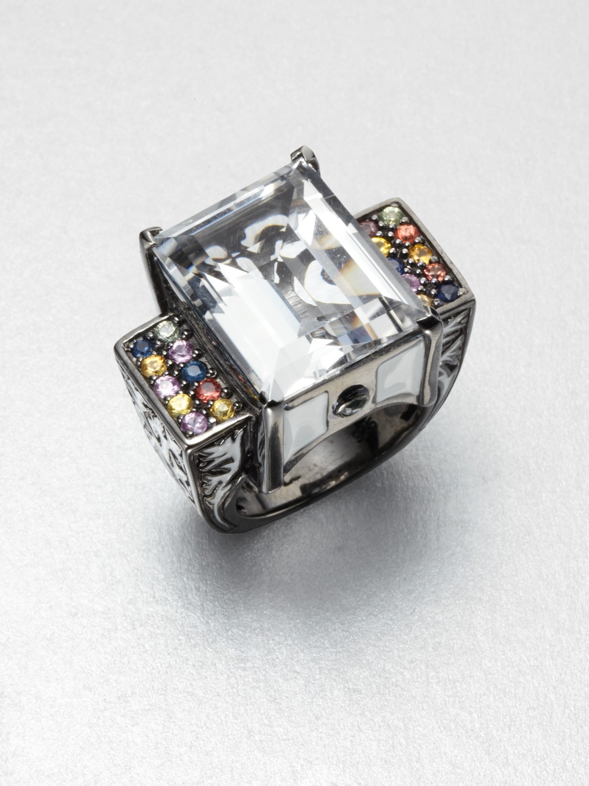 sale earrings topaz multicolor blue products gemstone multicolored sapphire unique wave flower new gold jewellery peridot amethyst