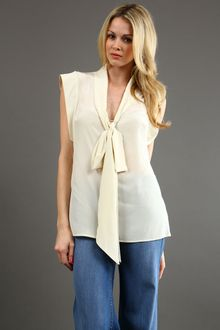 Tracy Reese Low Tie Neck Blouse 45 Off - Lyst
