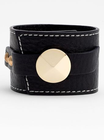Cara Accessories Leather Wrap Cuff - Lyst