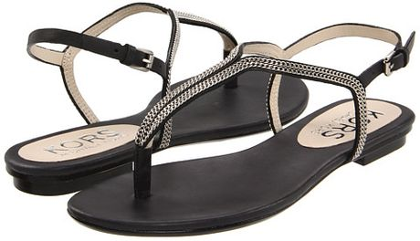 Kors By Michael Kors Kors Sandals Zanna Flat in Black (b)