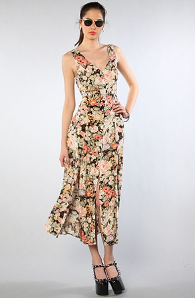 Mink Pink The Valerie Maxi Dress in Multicolor (floral)