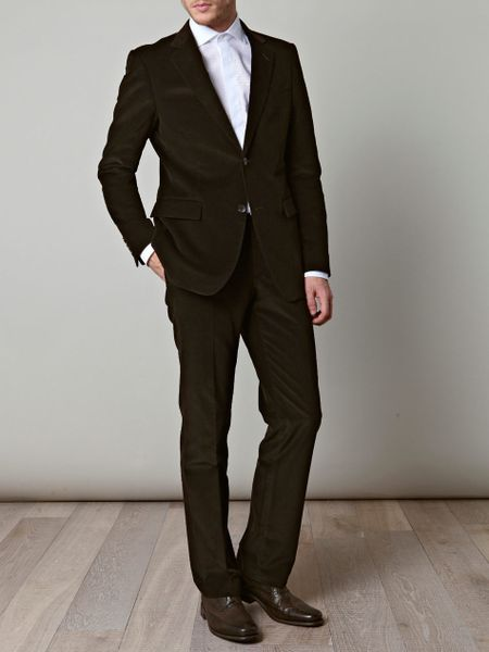 Gucci  Microcord Suit in Brown for Men (chocolate) - Lyst
