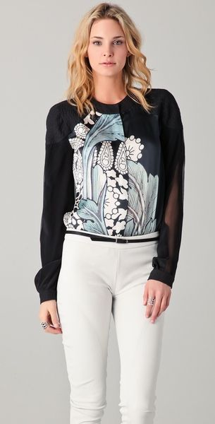 Preen By Thorton Bregazzi Faithful Print Shirt in Blue - Lyst