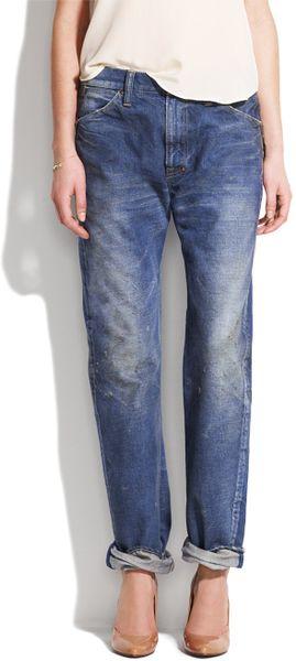 Chimala Denim Work Pants in Blue (medium blue)