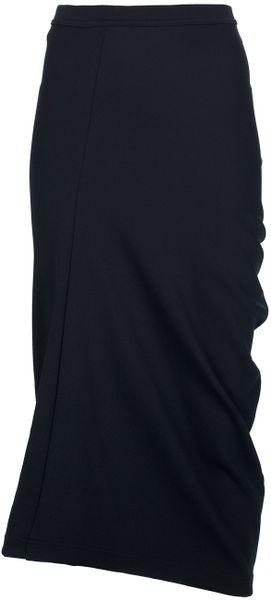 Comme Des Garçons Twisted Skirt in Black
