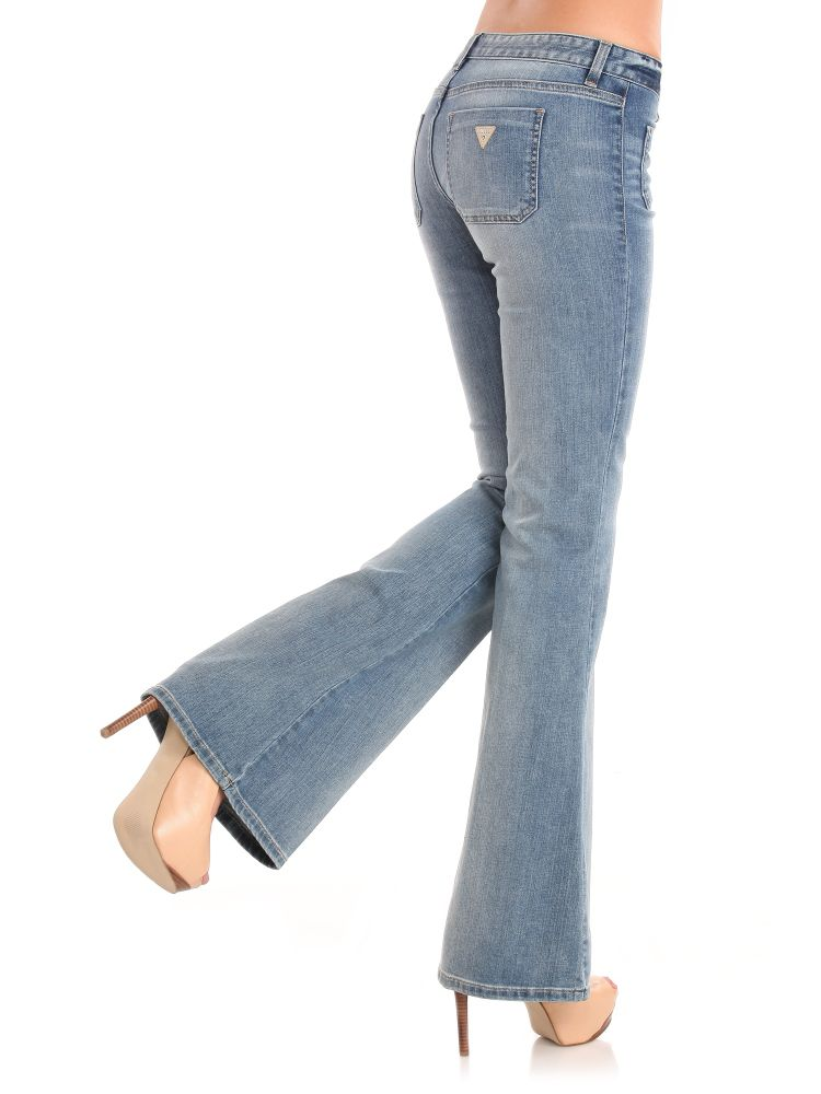 Guess 70s Relaxed Flare Jeans in Blue | Lyst