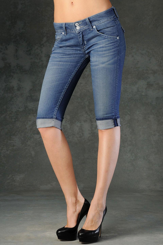 Hudson jeans Malibu Cuffed Capri in Blue | Lyst