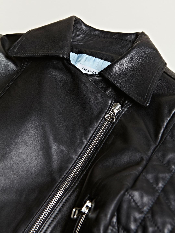 JW Anderson Leather Jacket in Black - Lyst