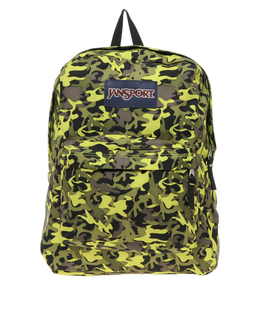 Jansport Superbreak Backpack with Camo Print in Green for Men | Lyst