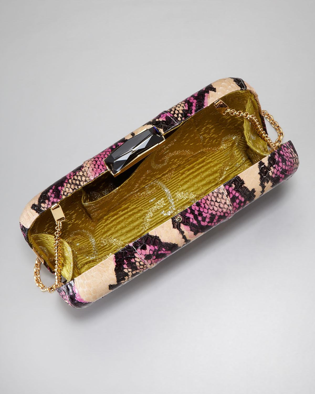 Kotur Evening Bag Smart Minaudiere Snakeskin Metal Clutch