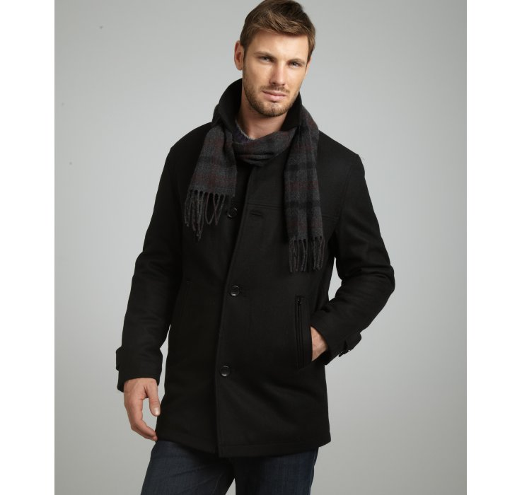 New Ford Torino >> London fog Wool Blend Barrington Button Front Coat in ...