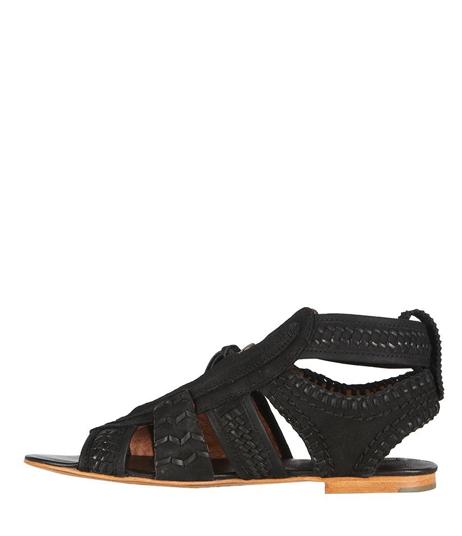 b8ced46eb8e1 AllSaints Braid Gladiator Sandal in Black - Lyst