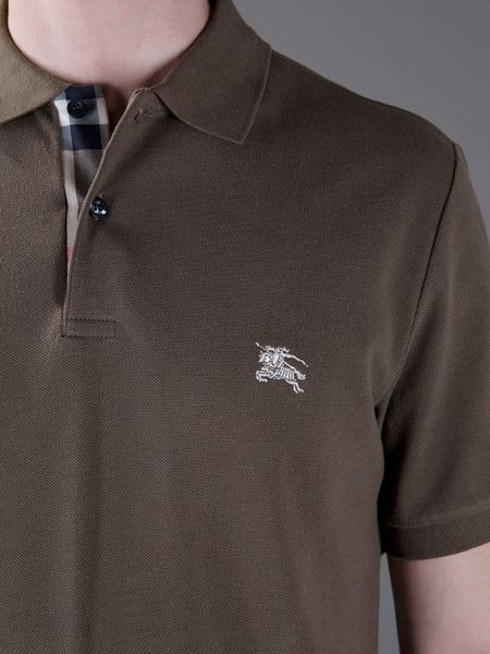 Burberry Brit Polo Shirt In Brown For Men Lyst
