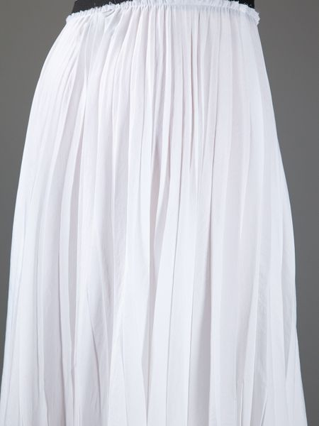 enza costa pleated skirt in white lyst
