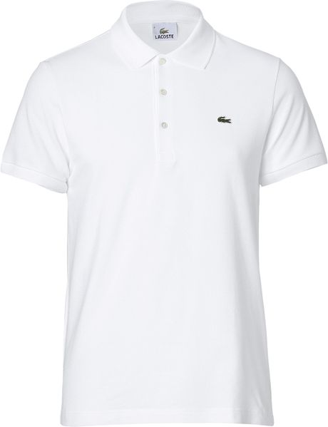 lacoste white ss polo shirt in white for men lyst. Black Bedroom Furniture Sets. Home Design Ideas