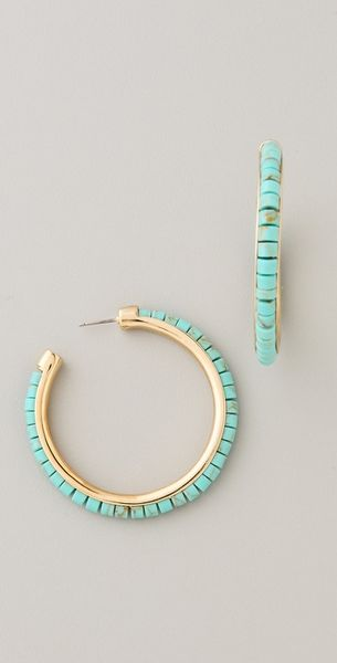 Michael Kors Sleek Exotics Hoop Earrings in Gold - Lyst