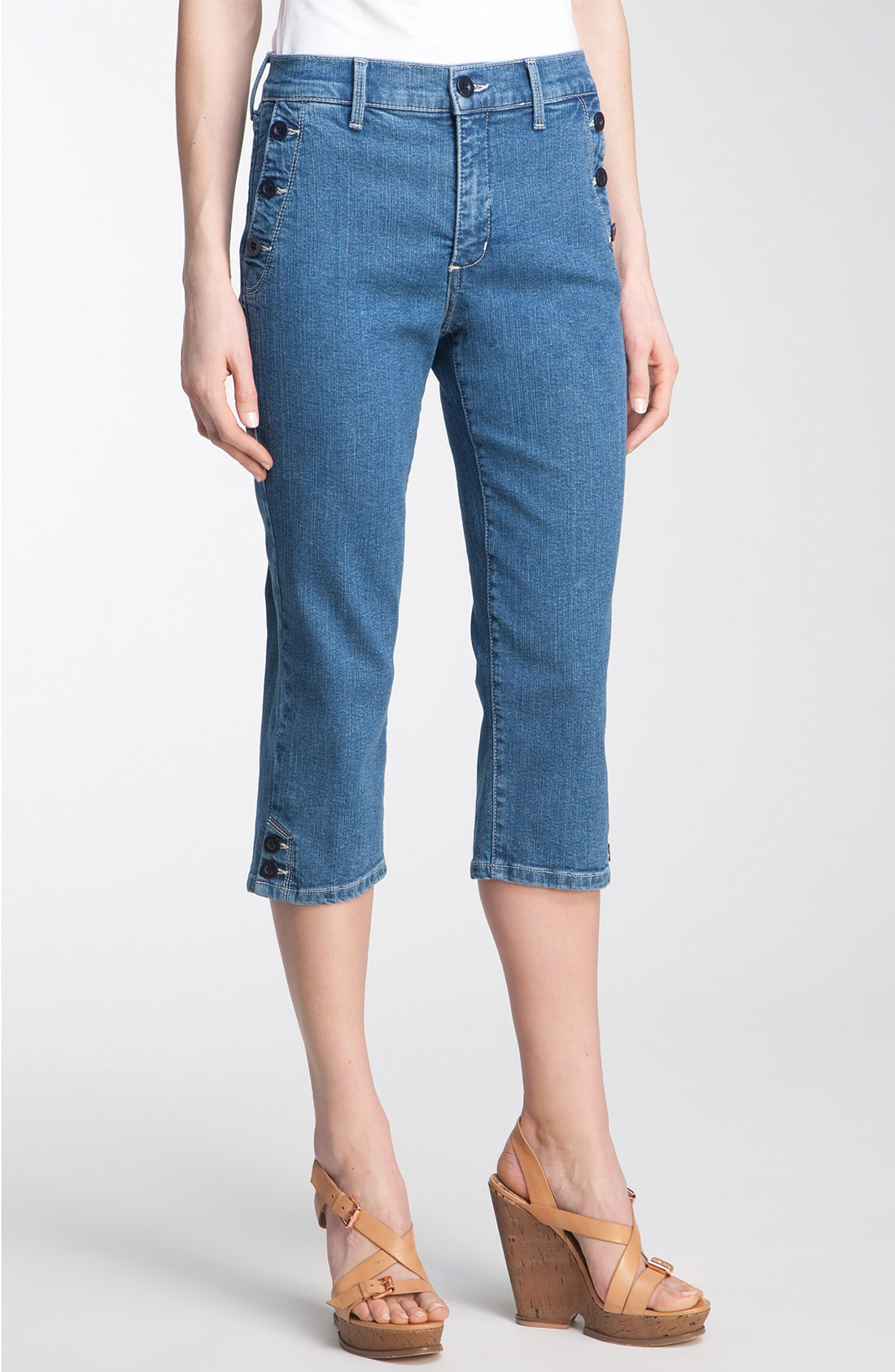 not your daughter 39 s jeans sammie capri jeans in blue. Black Bedroom Furniture Sets. Home Design Ideas