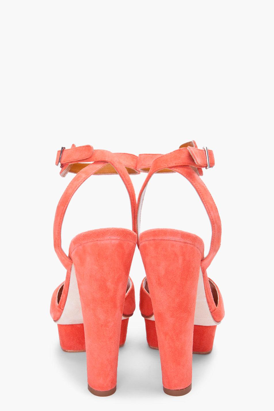 best supplier best sneakers buy cheap Coral Suede Heels