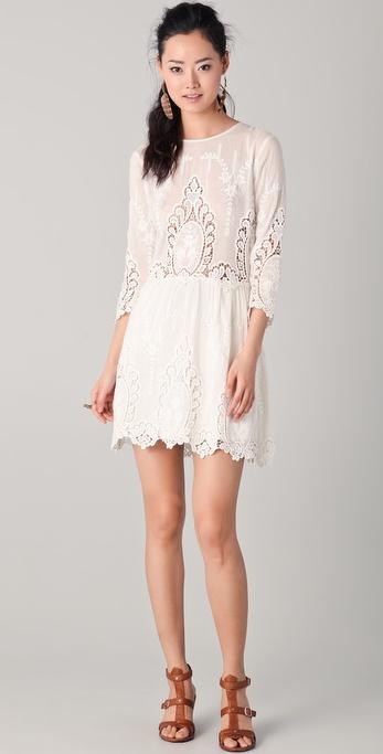 Dolce Vita Valentina Lace Dress - White - Lyst