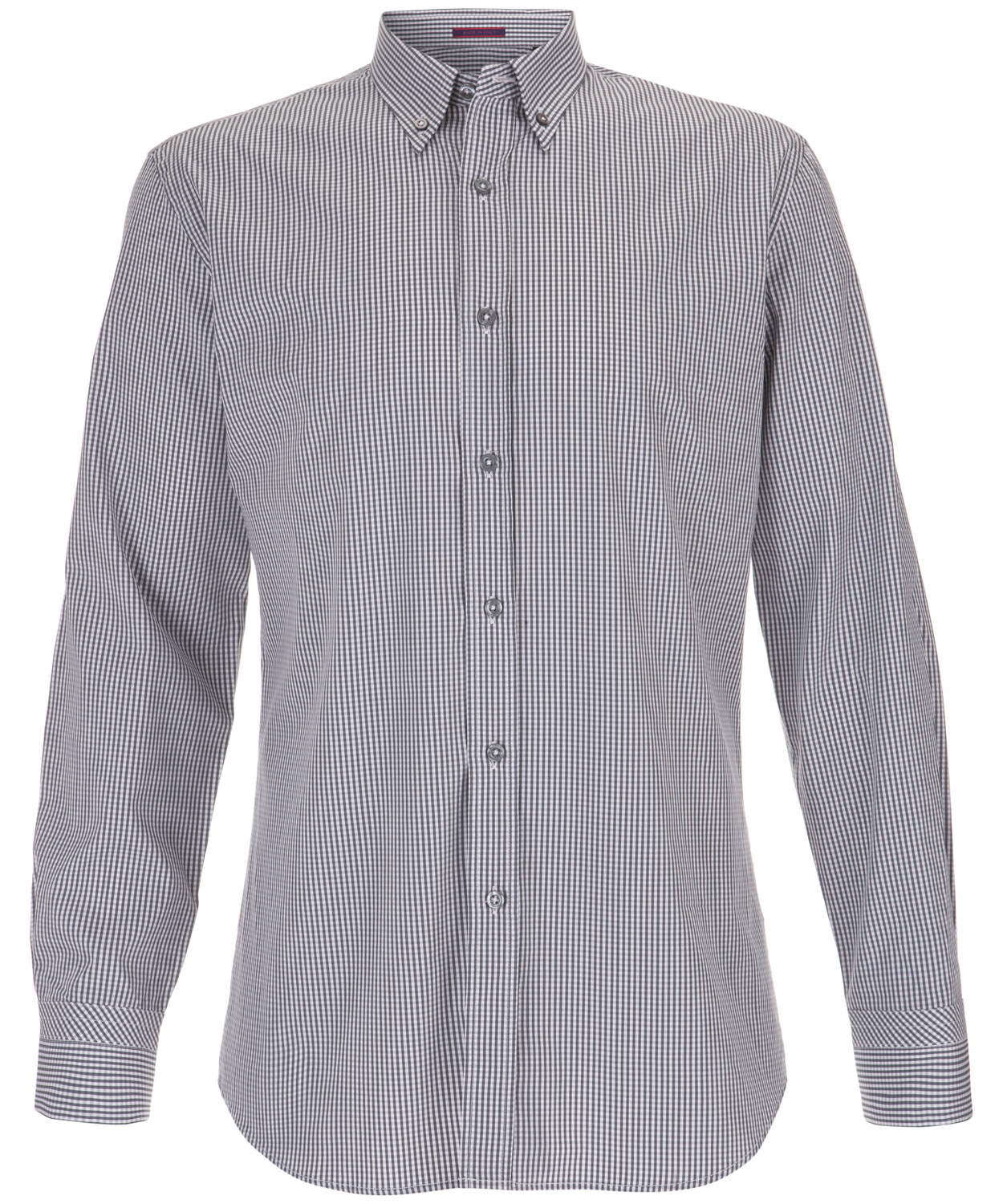 Paul smith grey gingham button down shirt in gray for men for Mens grey button down dress shirt
