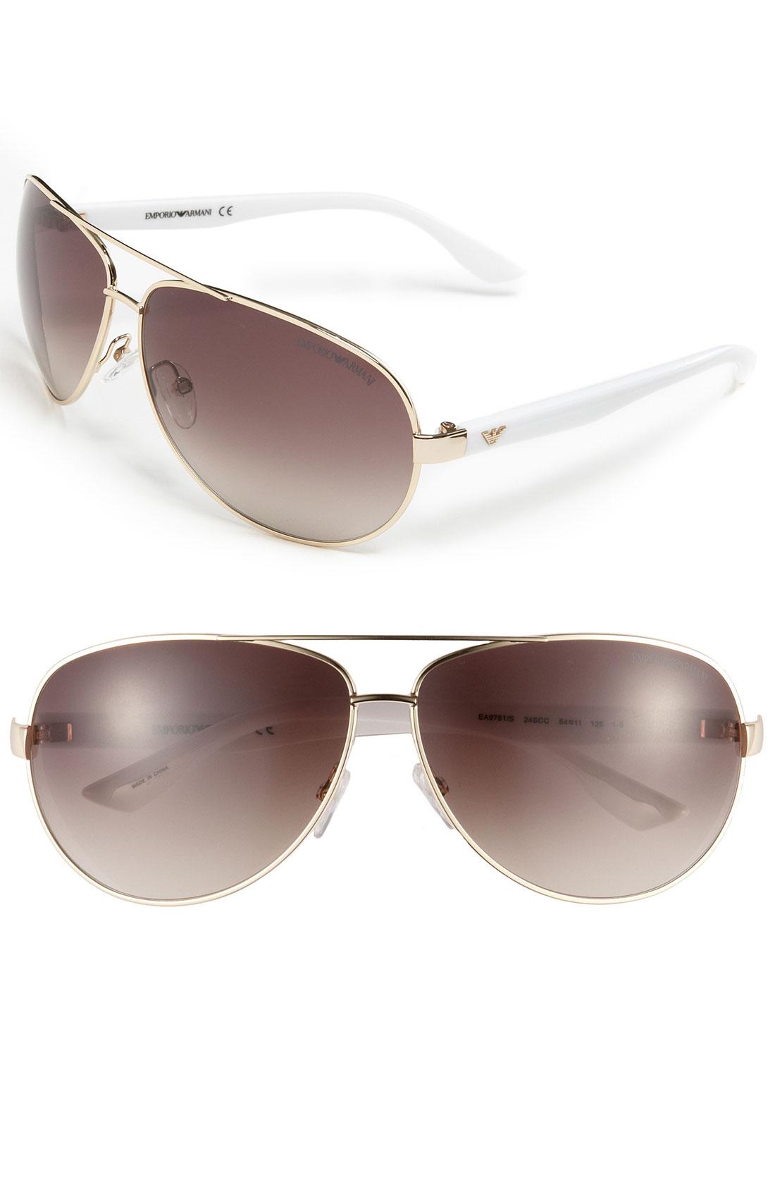 Armani Gold Frame Sunglasses : Emporio Armani Bubbled Aviator Sunglasses in Gold for Men ...