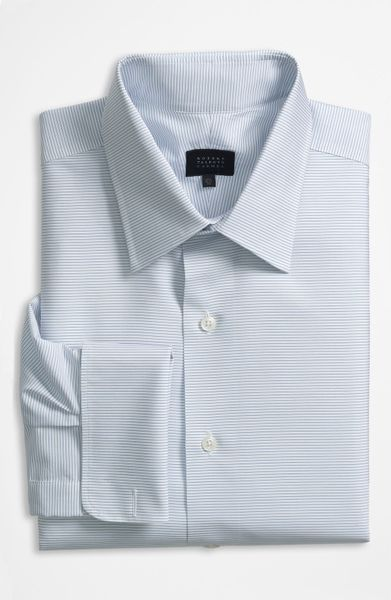 robert talbott regular fit dress shirt in blue for men