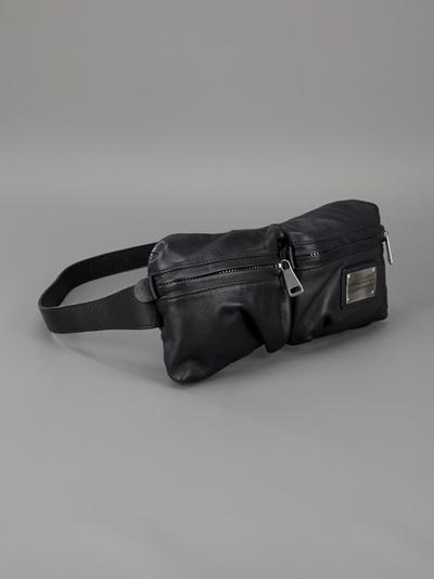 ... buy popular 5799c c0521 Dolce Gabbana Waist Belt Bag in Black for Men -  Lyst ... 781faf02b3