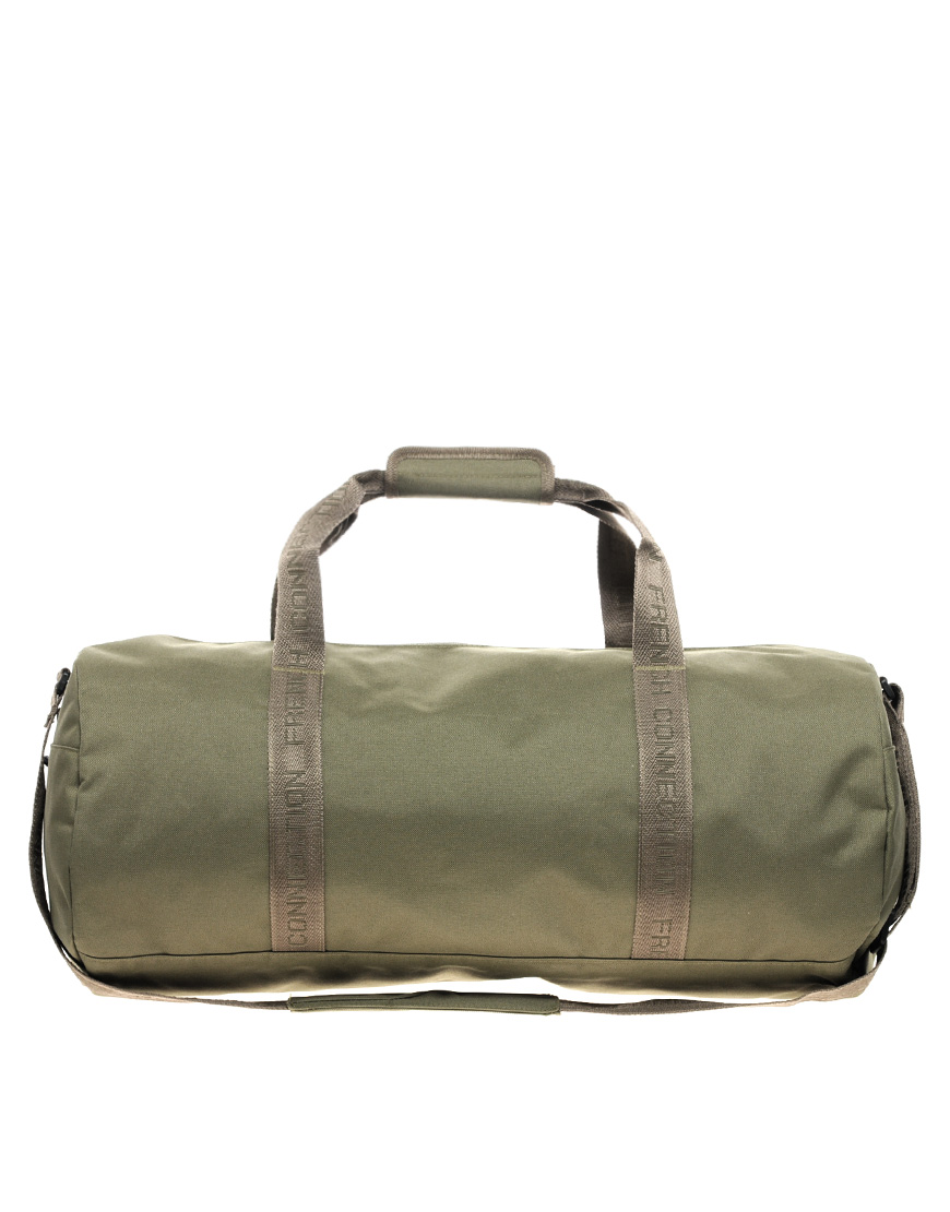 connection holdall bag in green for lyst