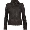 Allsaints Belvedere Leather Jacket in Brown (bitter) - Lyst