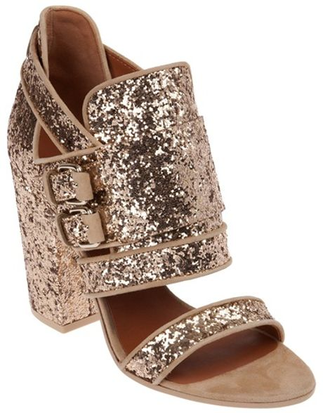 Givenchy Glitter Shoe in Gold