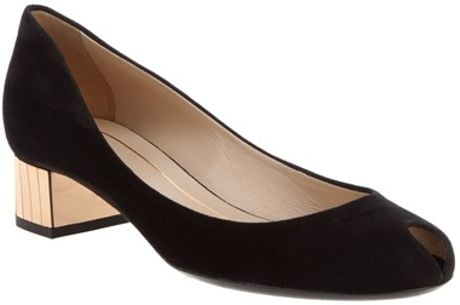 Gucci Block Heel Pump in Black - Lyst
