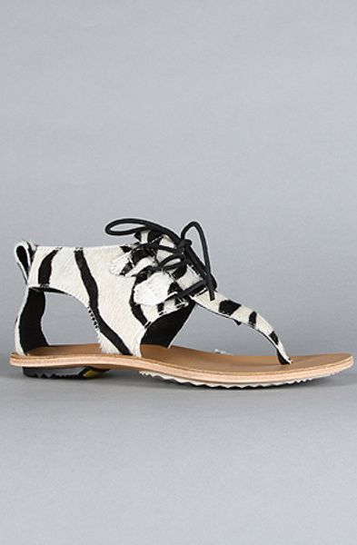 Sorel  Sandal in Zebra Pony Hair in Black (zebra) - Lyst