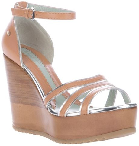 Sportmax Tacco Wedge Sandal in Brown - Lyst