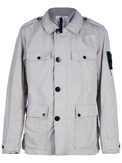 Stone Island Lightweight Jacket In Beige For Men Lyst