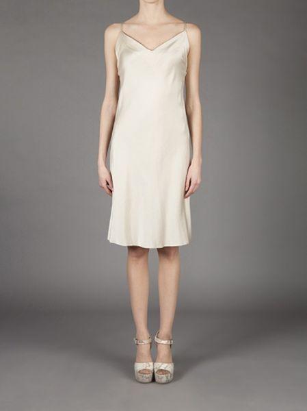 Ann Demeulemeester Slip Dress In White Ivory Lyst