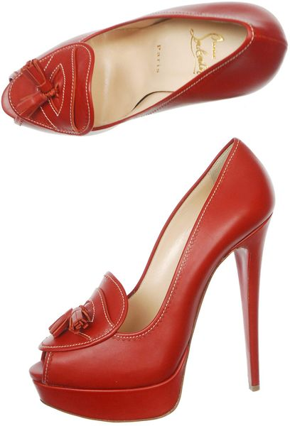 Christian Louboutin Alta Campus 150mm Shoes in Red - Lyst