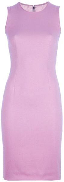 Dolce & Gabbana Fitted Dress in Pink - Lyst