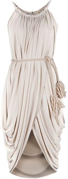 Lanvin Sleeveless Dress in White (ivory)