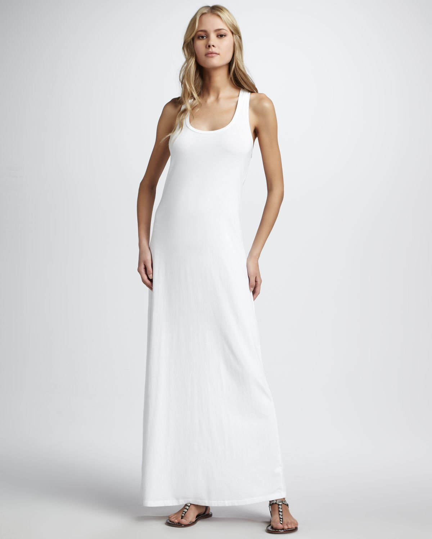 bffef13ff Splendid Sleeveless Tank Maxi Dress in White - Lyst