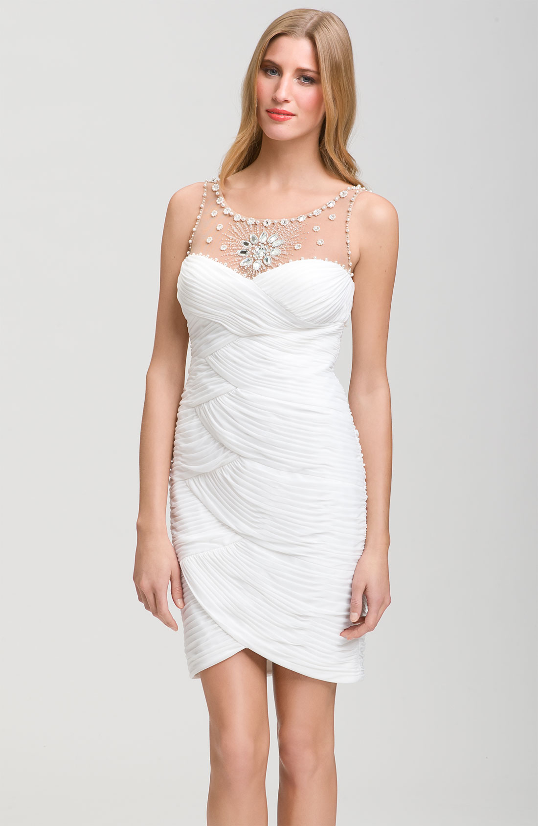Adrianna papell white evening dresses